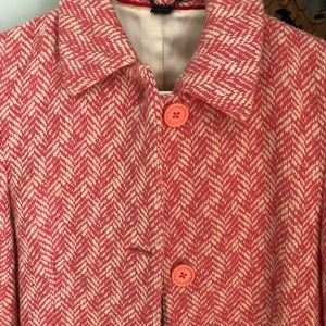 Pink Boden Wool Short Jacket Blazer